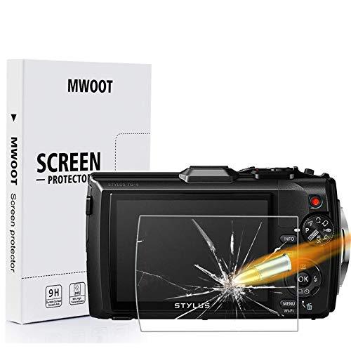 MWOOT 3 Stück Schutzfolie aus Glas für Olympus Tough TG-6 Digitalkamera,9H Härte Kratzfest Displayschutzglas zum Olympus TG6 Kamera-Display Schutz