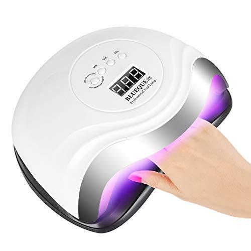 Nageltrockner, 168W UV LED Nagellampe für Gelnägel mit 4 Timer Einstellungen Infrarot Sensor LCD Display Schnell Trocknender Nagellampe für Fingernagel und Zehennagel Nageldesign,Geeignet für alle Gel