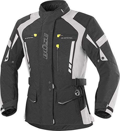 Büse Torino Pro Damen Motorrad Textiljacke 44 Schwarz/Hellgrau