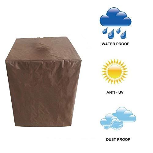 NINGWXQ Garden Furniture Cover waterdichte Anti-UV gebruikt for tuin Tafels en stoelen Device rechthoekige tafel dekken, Meerdere Maten (Color : Brown, Size : 220x220x85cm)