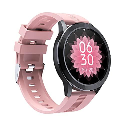 QS29 Reloj inteligente, rastreador de fitness, monitor de frecuencia cardíaca, contador de calorías, IP67 impermeable reloj deportivo con pantalla HD de 1.3 pulgadas, regalo cálido