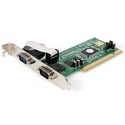 StarTech.com 2 Port RS232 Seriell PCI Schnittstellenkarte mit 16550 UART