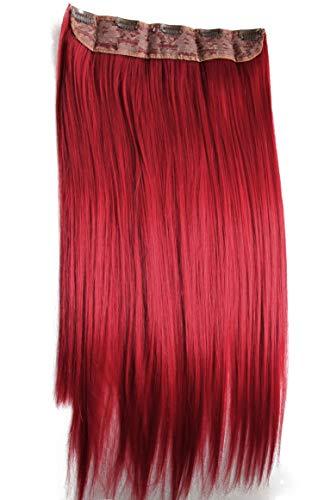 PRETTYSHOP 60cm 5 Clips Clip In Extensions Haarverlängerung Haarteil Glatt C61_3100