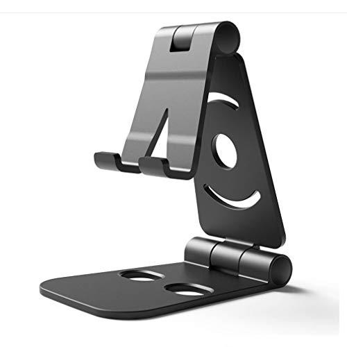 GWN Portatile Mini Desktop Mobile Phone Stand Supporto universale per Tablet regolabile Nero Tablet