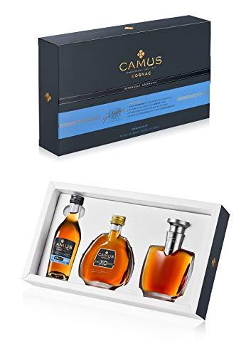 CAMUS Cognac Coffret de Dégustation - Miniatures VSOP + XO + EXTRA - 3 Flacons de 5cl 40°- Maison...