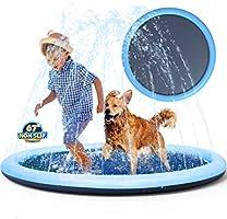 Non-Slip Splash Pad Sprinkler for Kids Toddlers, Kiddie Baby Pool, Outdoor Games Water Mat Toys - Infant Wading Swimming...