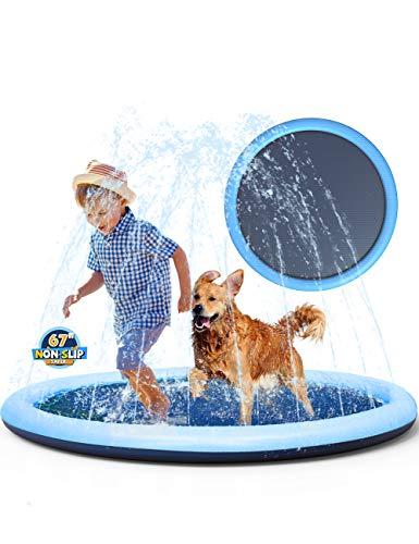 Non-Slip Splash Pad Sprinkler for Kids Toddlers,...