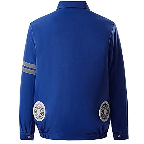 Cappotto con Aria condizionata Abbigliamento per ventilatori, Anti-ultravioletto Raffreddamento Air-climatizzatore, Giacca con Aria condizionata USB 5V (Size : X-Large)