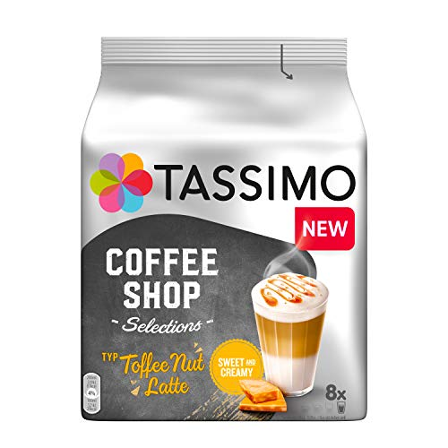 Tassimo Kapseln Coffee Shop Selections Toffee Nut Latte, 40 Kaffeekapseln, 5er Pack, 5 x 8 Getränke