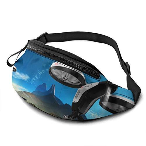 Tydo Waist Pack Bag with Headphone, UAV Building The Future Fanny Pack Adjustable Straps Waist Bag for Men Women Outdoors Running Hiking