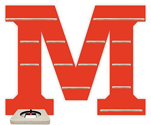 Farbklecks Collection Regal für Musikbox - Alphabet M - Rot mit Musikboxhalter
