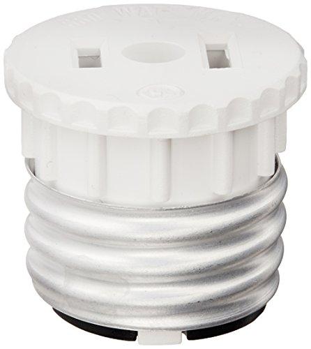Leviton Model 125 Plastic Lampholder To Outlet Adapter 125 Volt 660 Watt, Medium Base - 6 Pack