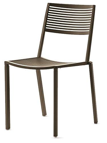 Easy Fast Chaise empilable en aluminium Art 1503 couleur Gris Métal