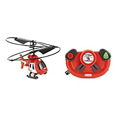 Easy-to-fly radio control helicopter toy perfect for young aviators Remote has motion steering controls that let kids steer like a pro Auto-hover technology keeps helicopter suspended in midair for easy flying Working LED headlights and durable prope...