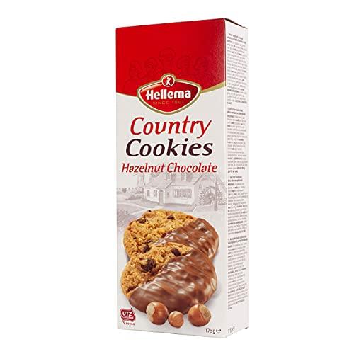 Hellema Country Hazelnoot Chocolade Koekjes Hazelnut Chocolate Cookies – Koeken met stukjes hazellnoot gedeeltelijk…