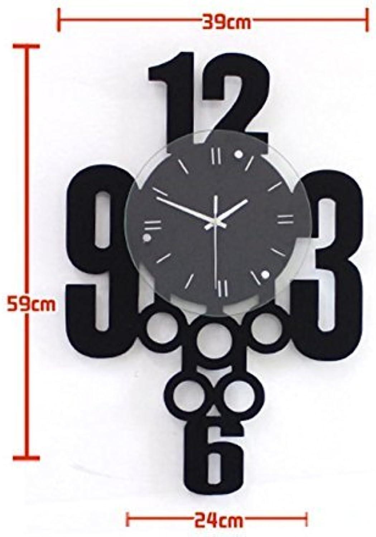 QiXian 20 Pulgadas de Sala de Estar Europea Moderna Simple Moda Creativa Mute Art Wall Clock