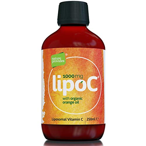 Liposomal Vitamin C 1000mg with Organic Orange Oil : LipoC for Immune Support, Collagen Production | 1g Liquid Non-GMO Sunflower Lecithin | Natural lypo-spheric C (High Strength) 250ml - 50 Servings