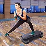 JAXPETY 27'' Fitness Aerobic Step Platform Adjustable 4'-6' Exercise Stepper w/Risers and Non-Slip Surface for Home Gym