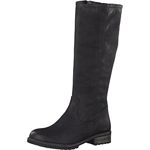Tamaris Damen Stiefel 26690-21,Frauen Boots,Langschaftstiefel,gefüttert,Reißverschluss,Blockabsatz 3.5cm,Black,EU 36