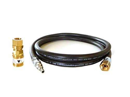 Schutzgasschlauch 2,0 Meter inkl. Schnellkupplung DIN EN 561