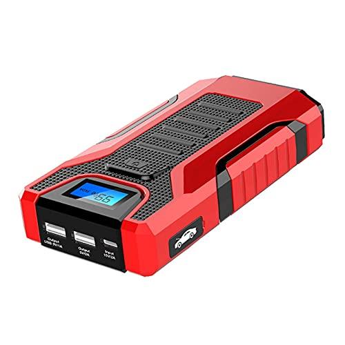 Arrancador de Coches , 13800mAh Arrancador de batería de automóviles portátil, fuente de alimentación móvil de automóvil con pantalla LCD, iluminación de emergencia DIESEL / Fuente de alimentación de
