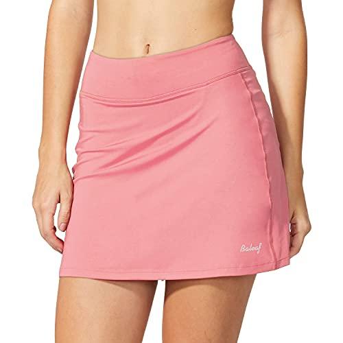 BALEAF Women's Athletic Skorts Lightweight Active Skirts with Shorts Pockets Running Tennis Golf Workout Sports Light Pink Size M