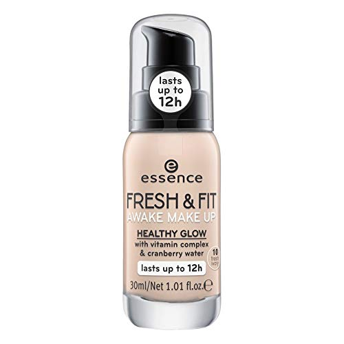ESSENCE Fresh & Fit Awake Make Up 10 Fresh Ivory Fondotinta, 30 ml
