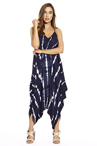 Riviera Sun 21635-NW-XL Jumpsuit/Jumpsuits for Women Navy/White