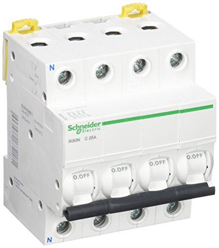 Schneider Electric A9K24725 Interruptor Automático Magnetotérmico, Ik60N, 3P+N, 25A, Curva C