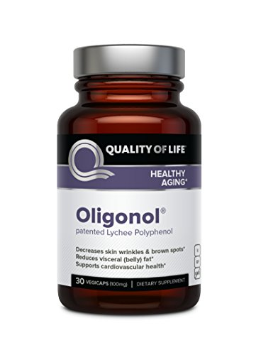 Quality of Life Oligonol Premium Anti Aging Supplement-Supports Cardiovascular Health Youthful Skin, Circulation, Weight Loss, 30 Vegicaps (100mg)