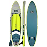 ISLE Explorer Inflatable Stand Up Paddle Board & iSUP Bundle Accessory Pack — Durable, Lightweight with Stable Wide Stance — 300 Pound Capacity, 11' or 12' Long, 6' Thick