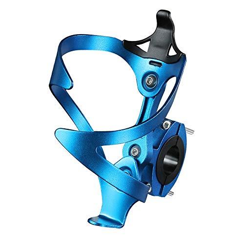 He Ebb Flaschenhalter Fahrrad, Verstellbarer Aluminiumlegierung Getränkehalter Fahrrad und Flaschenhalter Adapter, für Fahrrad, Rennrad, Mountainbikes, Elektrofahrräder, Blau
