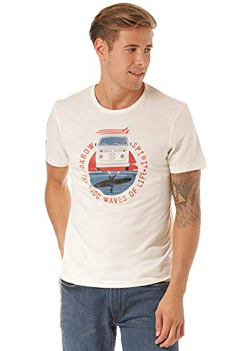 OxbOw TOKEL T-Shirt Homme, Crème, FR (Taille Fabricant : 2XL)