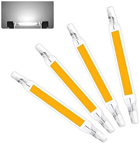 Heart&M 10W R7S LED Birnen 78mm LED COB-Licht 100W Halogen-Equivalent J Typ T3 R7S Basis Dimmbare Double Ended Scheinwerfer-Birnen-Landschaft Beleuchtung, 4er Pack,Cool White