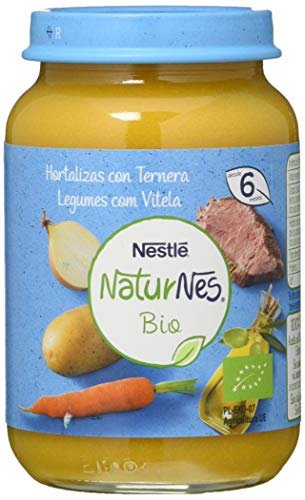 Nestlé Naturnes Bio Puré Hortalizas Con Ternera Tarrito Para Bebés Desde 6 Meses - Pack de 12 tarritos 190g