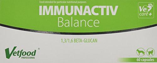 Vetfood Immunactiv Balance | Stärkung des Immunsystems von Katzen & Hunden| Bei Stress | Unterstützt nach Krankheit | 60 Kapseln