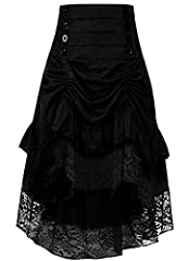 Women 50s Retro Petticoat Underskirt Vintage Party A-line Tutu Skirt Crinoline Half Slips Comfortable Material:High low skirt Adopt high quality Chiffon,Waistline and top part is well elastic,Comfortable and keeps you feel cool to the touch. Ruffles ...