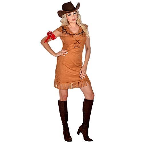WIDMANN 09459 - Disfraz de vaquera para mujer, marrón, XS
