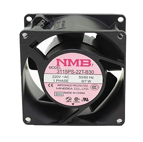 NMB-MAT 3115PS-22T-B30 AC220V 9W 80X80X38mm Server Cooling Fan metal aluminum frame fan