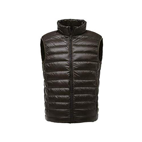 Men Sleeveless Jacket Winter Ultralight White Duck Down Vest Male Slim Windproof Warm Waistcoat Green XXXL