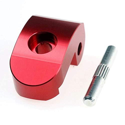 EWheel | Uña/pestaña de Cierre Reforzada para Patinete Xiaomi M365, 1S, Essential, Pro y Pro2 | Bisagra Reforzada | Gancho de Plegado | 3 Colores: Rojo, Negro y Plata | Incluye Pasador. (Rojo)