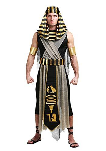 Men's All Powerful Pharaoh Costume Egyptian X-Large Black