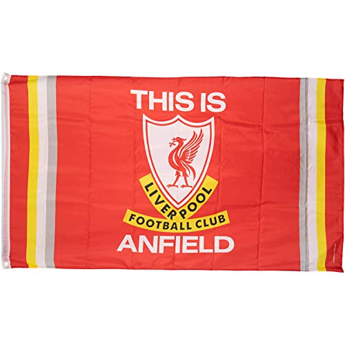 FC Liverpool This is Anfield TIA Fahne 90x150cm (one Size, rot)