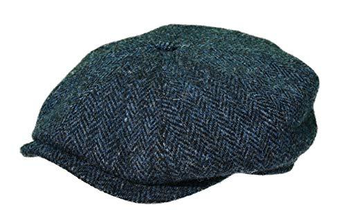 Balke Mütze Harris Tweed Heringbone, Farbe:blau, Größe:60