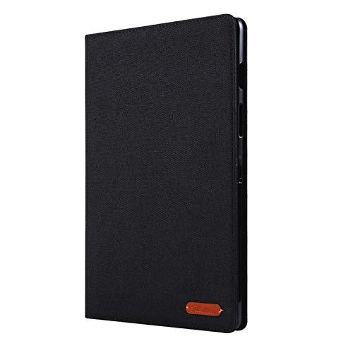 MOYOFEE JYMD AYD - Funda para Galaxy Tab S5e T720 y T725 (piel sintética, con tapa horizontal, con soporte y ranuras para tarjetas), color negro