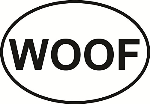 WOOF Euro Oval Bumper Sticker