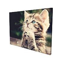 猫柄 アートパネル ポスター 絵画 インテリア 壁絵 装飾画 壁飾り 壁掛け 部屋飾り 30cm×40cm 木枠セット