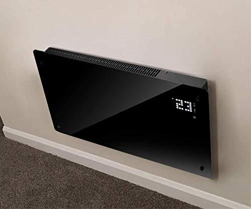 Wärme Designer WiFi Electric Wall Heater Panel Heater Radiator - Ultra Slim (8cm) - 2Kw - Programmable Digital Thermostat - Wall Mountable (Free Wall Bracket Included) - Maintenance Free