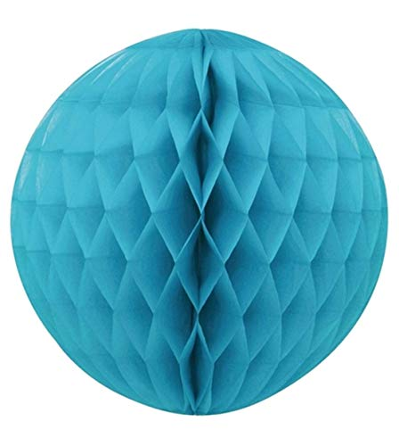 Rimi Hanger Paper Lantern Honeycomb Ball Birthday Decoration Wedding Party Hanging Accessory Turquoise One Size