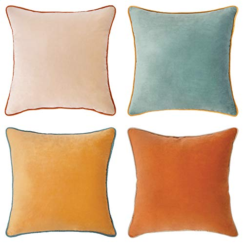 MONDAY MOOSE Decorative Throw Pillow Covers Cushion Cases, Set of 4...